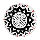 Sunflower Silhouette Mexico Totems Celebrate Dessert Plate Decorative Porcelain 8 inch Dinner Home