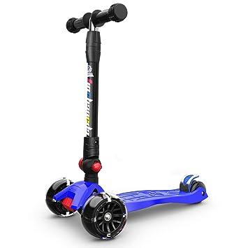 Triciclos Patineta Plegable de 3 Ruedas Patineta Infantil para niños con Ruedas Intermitentes de PU para