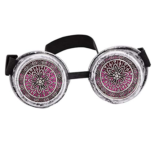 Vintage Red Lens Steampunk Goggles Cosplay/Hollowen/Funny Party Glasses Eyewear ()