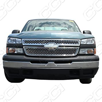 2013 Chevy Silverado 2500 HD Fits 2011 OC Parts Chevy Silverado-2500-HD Chrome Front Grille Insert 2012