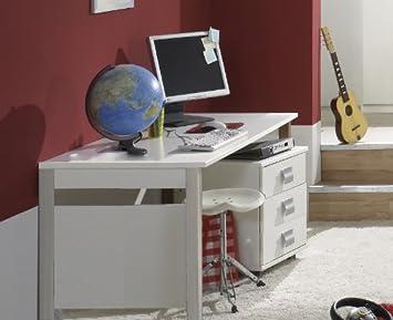 Kinderzimmer Schreibtisch Set Emma 2 Tlg In Alpinweiss Amazon De