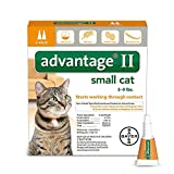 Advantage II Flea prevention for Small Cats, 5 - 9 lbs,  2-pack (2 dose)