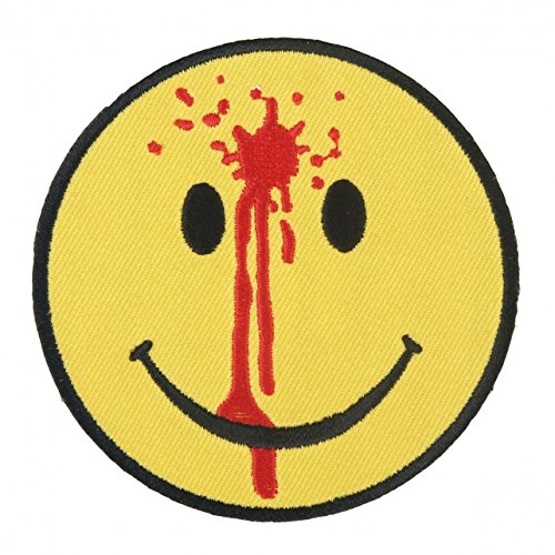 Hot Leather, SMILEY FACE BULLET HOLE, High Quality Iron-On / Saw-On, Heat Sealed Backing Rayon PATCH - 3