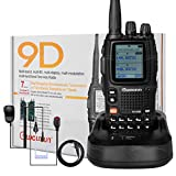 NKTECH WOUXUN KG-UV9D VHF/UHF 136-174/400-480MHz Air Band 7 Band 5W/4W/1W 2000mAh 7.4V Li-ion BatteryTwo Way Radio Walkie Talkie + NK-H7 Headset Earpiece + Car Charger + NK-S113 Microphone
