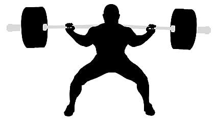 Pegatina de pared Atletas de poder con mancuernas y pesas motivo deportivo para pegar gimnasio estudio
