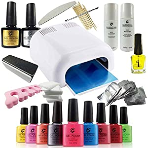 pro ibn uv nail gel polish deluxe starter kit set including 36w uv lamp a massive range of. Black Bedroom Furniture Sets. Home Design Ideas