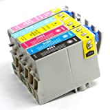 6 Pack Remanufactured Inkjet Cartridges for Epson T048 #48 T048120 T048220 T048320 T048420 T048520 T048620 Compatible With Epson Stylus Photo R200, Stylus Photo R220, Stylus Photo R300, Stylus Photo R300M, Stylus Photo R320, Stylus Photo R340, Stylus Photo R500, Stylus Photo R600, Stylus Photo RX500, Stylus Photo RX600, Stylus Photo RX620 (1 Black, 1 Cyan, 1 Magenta, 1 Yellow, 1 Light Cyan, 1 Light Magenta) 6PK by Aria Supplies ®