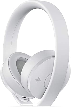 Amazon Com Playstation Gold Wireless Headset White Playstation 4 Video Games