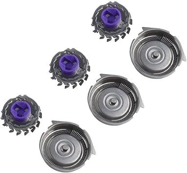 Kinshops Cortadores de Cuchillas de Cabeza de Afeitar Profesional de Repuesto 3PCS / Set adecuados para Philips ...