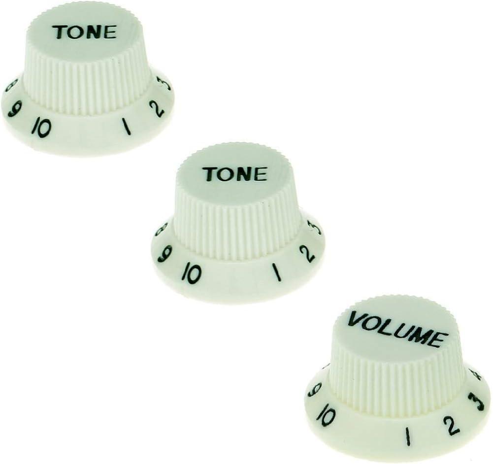 IKN Top Hat 2T2V//2T1V Knobs Tone Volume Speed Control Knobs Fit Gibson SG Les Paul Guitar Black