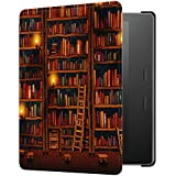 Huasiru Painting Case for Amazon Kindle Oasis 2017 (7 inches, 9th Generation 2017 Released) Cover with Auto Sleep/Wake, Library