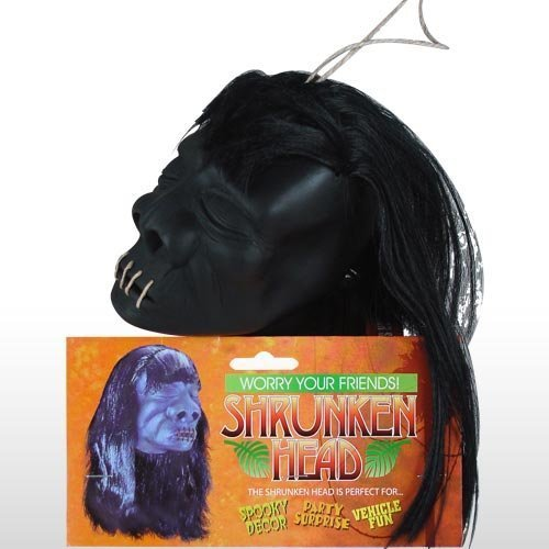 Deluxe Adult Costumes - Med-Large black shrunken head pirate accessory