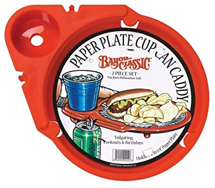 Bayou Classic 1050-PDQ Paper-Plate-Cup-Can Caddy Set of  sc 1 st  Amazon.com & Amazon.com: Bayou Classic 1050-PDQ Paper-Plate-Cup-Can Caddy Set of ...