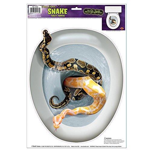 Snake Toilet Topper Cling]()