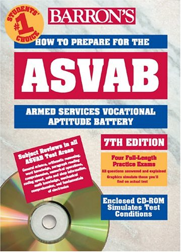 How to Prepare for the ASVAB with CD-ROM (Barron's ASVAB (W/CD))