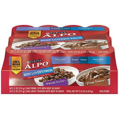 Purina ALPO Prime Cuts/Gravy Cravers Beef Lover's Pack Dog Food - (1) 9.9 lb. Tray from Purina
