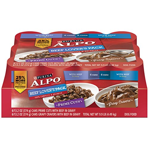 Alpo Pet Foods (Purina ALPO Prime Cuts/Gravy Cravers Beef Lover's Pack Dog Food - (1) 9.9 lb. Tray)