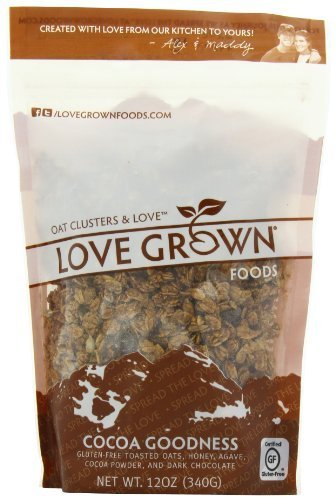 Love Grown Foods Cocoa Goodness Granola, 12 Ounce (Pack of 6)