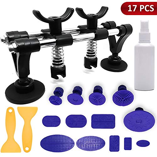 Zantec Super Car PDR Tools Body Dent Repair Set Puller Glue Pulling Tabs Toolkit Suction Cup Dent Bridge Puller Kit Automobile Sheet Metal Tools