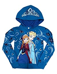 Disney Frozen Anna and Elsa Girls Zip-Up Hoodie Sweatshirt