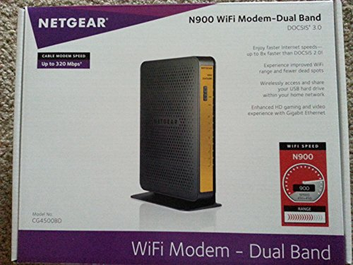 Netgear N900 Dual Band Gigabit WIFI Router (CG4500BD)