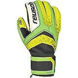 Reusch Soccer Pulse Prime M1 Goalkeeper Glove, Size 9, Yellow/Green, Pair