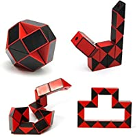 Cube Puzzle Magic Snake Red Ruler Smooth Speed Twist Cube, Speed Cube Brain Teasers Skewb Toy