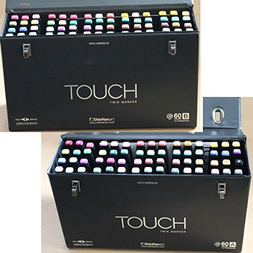 120 Colors - ShinHan Art's New TOUCH TWIN Marker Dual PointSet A and B Color