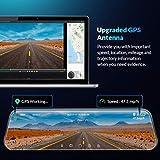 DMYCO 10'' 2.5K Mirror Dash Cam Backup Camera for