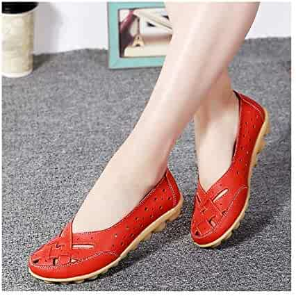 a777bf251a Plus Size 44 Genuine Leather Shoes for Women Flat Spring Summer Casual  White Shoes Slip On