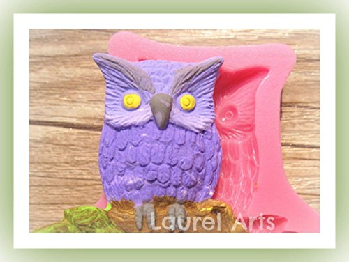 Mold Owl Silicone Mold Fondant Cake Soap Chocolate Mold for Crafts and Baking from Laurel Arts