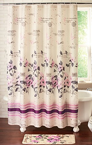 Collections Etc Elegant Florette Curtain