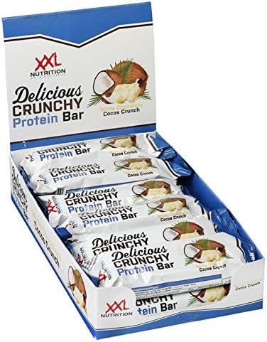 XXL Nutrition Delicious Crunchy Protein Bar | Geschmackserlebnis Proteinreigel Mit 20g Eiweiß | 12 Stück | White Chocolate Pistachio