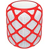 RuenTech Silicone Case Cover for Apple Homepod[2.5mm Sleek Mesh Design] Impact & Drop Resistant,All-Around Protective Case for Apple Homepod (Red)