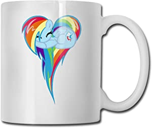 Heart Of Rainbow Dash Personalized White Coffee Mug Tea Cup Gifts T Mothers Day Gifts, Father's Day Gifts, Christmas Gifts, Grandma Grandpa Gifts