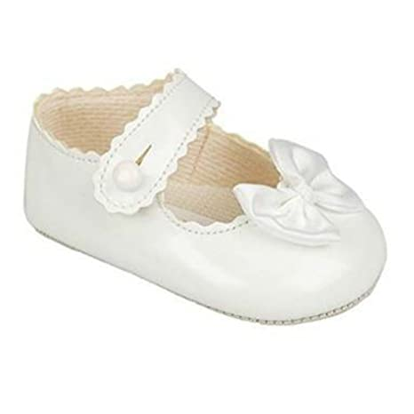 c47cbec21 BNIB Bebé Niñas Baypod Zapatos de Primera Cochecito en Rosa Negro - Rojo o  Blanco 4