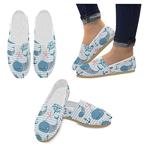 InterestPrint Womens Loafers Classic Casual Canvas Slip On Fashion Shoes Sneakers Flats Multi 22 cOzyki