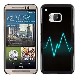 Caucho caso de Shell duro de la cubierta de accesorios de protección BY RAYDREAMMM - HTC One M9 - Blue Beat