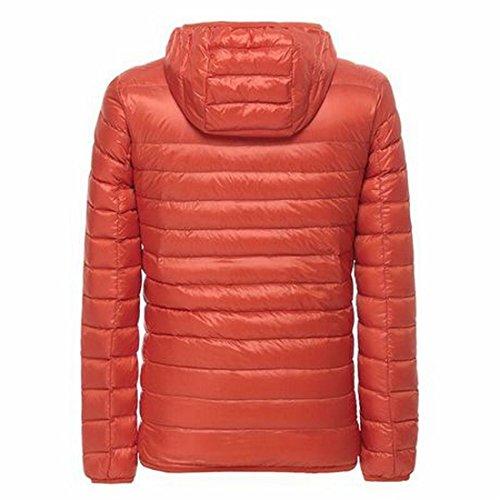 Arancio Hooie Leggero Giù Giacche Uomini Inverno Packable Puffer Grmo Cappotti UwfqOzF