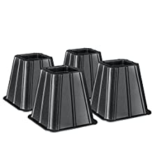 Greenco Super Strong Furniture Riser, Great for Under Bed Storage-Pack of 4