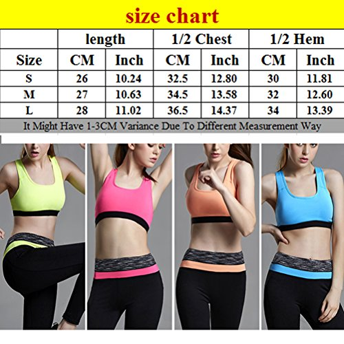 Zhhlaixing Womens Racerback Level Support Maximum Powerful Quick-dry yoga Sports Bra Yellow