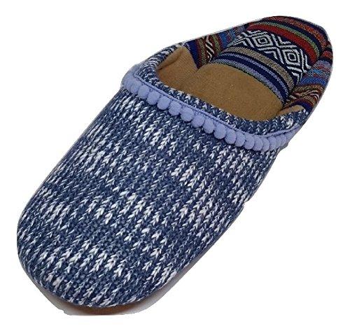 Dearfoams Toe Indigo Closed Women's Knit Scuff Summer r4r1UP