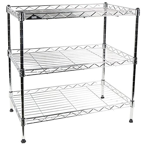 Apollo Hardware Chrome 3-Tier Wire Shelving Unit 20