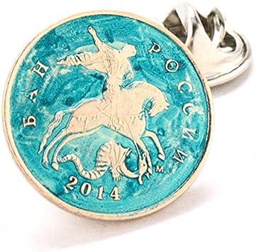 Ruso St. George Dragon Tie Tack Pin de solapa traje Escudo sello ...