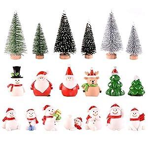 19 Pezzi Ornamenti in Miniatura di Natale Mini Statuette in Stile Natalizio Albero di Natale di Babbo Natale Simpatico Cartone Animato Decorazioni Natalizie per la Casa Decorazioni Style A 12 spesavip