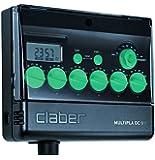Claber 8060 Multipla® DC 9 V con Display LCD, Programmatore elettronico a 6