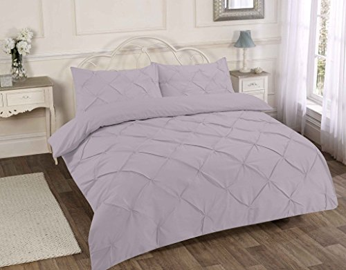 Enya Overscaled Floral Printed Duvet Cover Set Double Size Purple Grey Classic