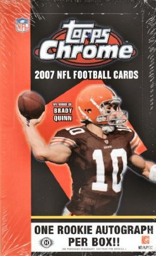 2007 Topps Chrome NFL Football HOBBY box