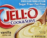 Jell-O Cook and Serve Pudding and Pie Filling, Sugar-Free, Fat Free, Vanilla, 0.8-Ounce Boxes (Pack of 6)
