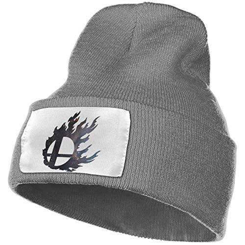 (Smash Ball Unisex Winter Warm Knit Cap Outdoor Super Stretch Knit Cap Beanie Hat Slouchy Cuff Skull Cap Ski Hat)